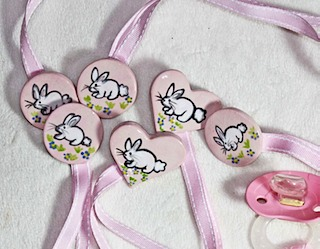 Baby Pacifier Clips Bunny Rabbit