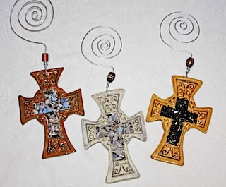 Brown Crosses with Glass