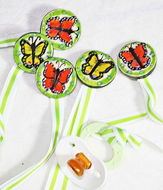 Butterfly Pacifier Clip Holder