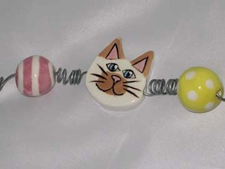 Cat Head Bead