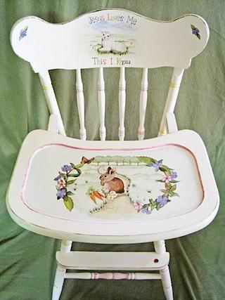 Custom High Chair Amy Stone