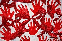 FACS red hands