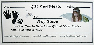 Gift Certificate Fairys and Frogs