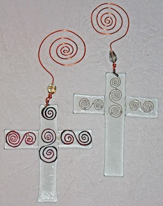 Glass and Copper Crosses