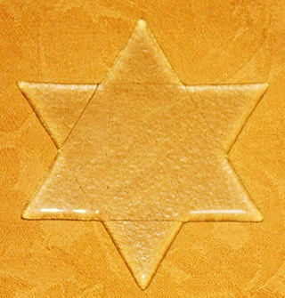 Glass Star of David