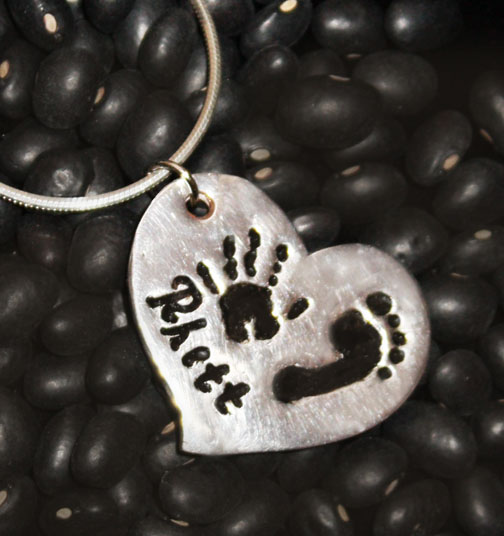 Hand Foot Silver Heart