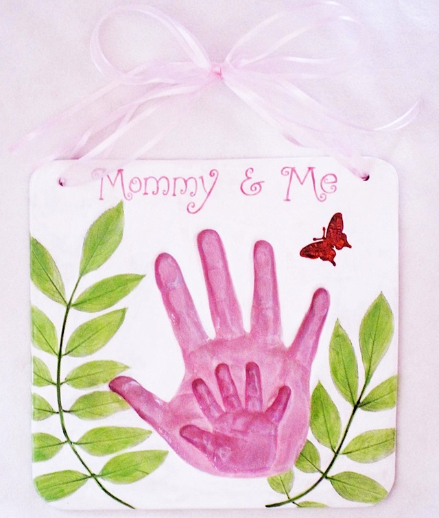 Mommy and Me pink hands