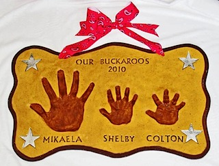 Our Buckaroos Hand Impressions
