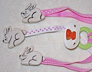 Rabbit Baby Pacifier Clip