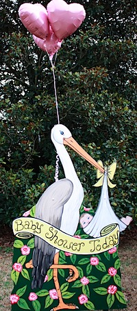 Rent a Stork with Balloons-2