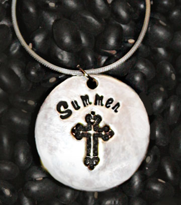 Silver Personalized Cross necklace