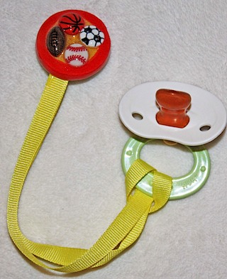 Sports Baby Pacifier Clip