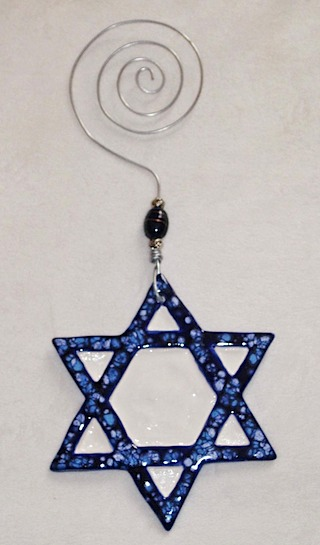 star of david blue white