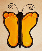 Yellow-Butterfly-Baby-Feet-Impression